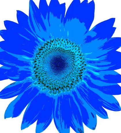 Blue Sunflower Sticker