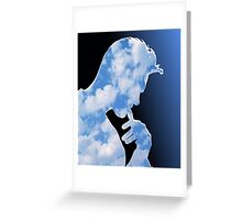 Morrissey in clouds Greeting Card