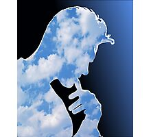 Morrissey in clouds Photographic Print
