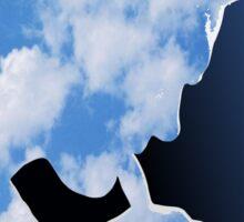 Morrissey in clouds Sticker