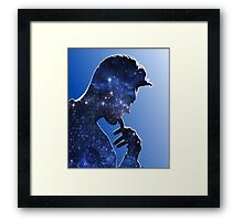 Morrissey in stars Framed Print