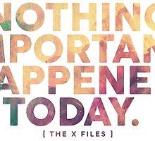 Nothing Important by subject13fringe
