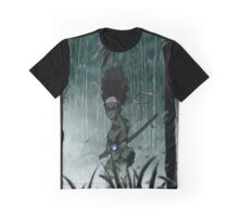 The Boondocks|Huey Freeman|Blind Samurai Graphic T-Shirt
