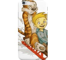 Calvin And Hobbes Speed test iPhone Case/Skin