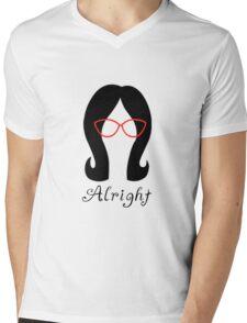 Alright // Linda Mens V-Neck T-Shirt