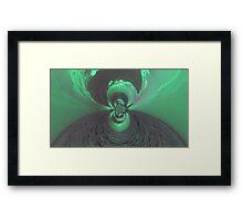 Green Psychedelic Design Framed Print
