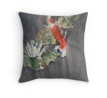 Koi Study Throw Pillow