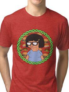 Tina ft Burgers Tri-blend T-Shirt