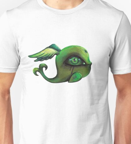 green winged whale Unisex T-Shirt