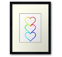 LOVE HEARTS X3 Framed Print
