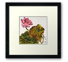 Lotus Blossom, the Flower of the Buddha Framed Print