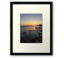flying fishbone sunset Framed Print