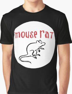 mouse rat white circle Graphic T-Shirt