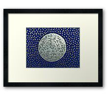 Winter Night - Mixed Media Painting Framed Print