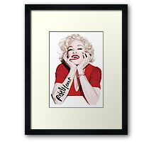 Sexy in Red Framed Print