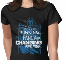 Thinking... Womens Fitted T-Shirt