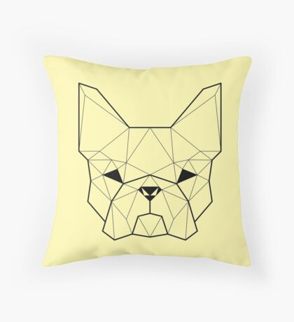 French Geometry Dark Throw Pillow