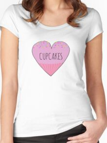 I LOVE CUPCAKES! Women's Fitted Scoop T-Shirt