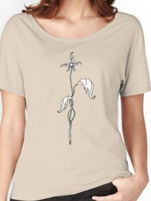 First Bloom ~{Black & White}~ Women's Relaxed Fit T-Shirt