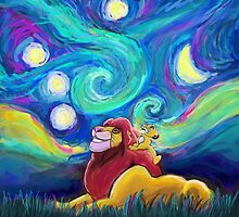 Starry Starry Night Meets Kings of the Past by Julie Luke Art Work