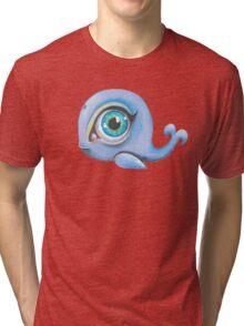 blue baleine Tri-blend T-Shirt