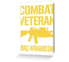 Combat Veteran Iraq and Afghanistan  T-Shirt Greeting Card