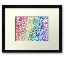 Spectrum - Mixed Media Painting Framed Print