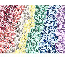 Spectrum - Mixed Media Painting Photographic Print