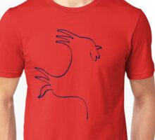 Rooster outline Unisex T-Shirt