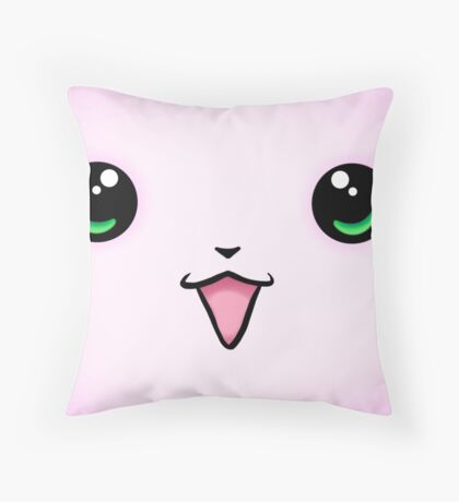 Kawaii Face- Super Kawaii Throw Pillow