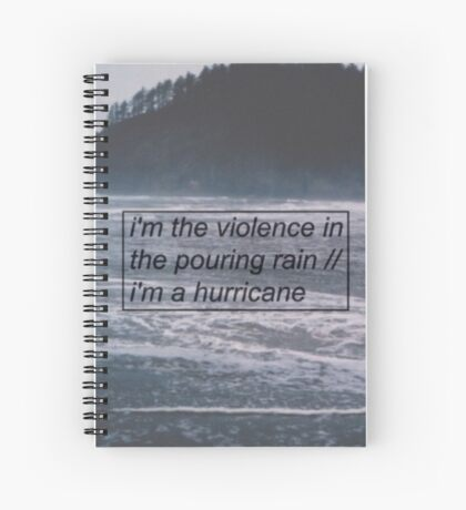 Halsey - Hurricane Lyrics 2 Spiral Notebook