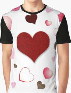 Hearts and Roses Graphic T-Shirt