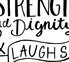 She Is Clothed In Strength And Dignity Sticker