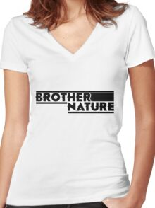 Brother Nature Logo Women's Fitted V-Neck T-Shirt