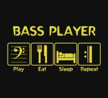 Bass Player -- Play Eat Sleep Repeat Kids Clothes