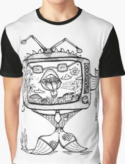 Ill-mannered Fish TV! Graphic T-Shirt