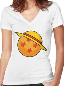 ball Women's Fitted V-Neck T-Shirt