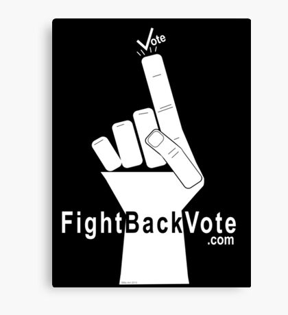 FightBackVote.com Canvas Print