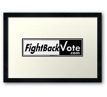 FightBackVote.com1 Framed Print