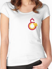 galatasaray logo Women's Fitted Scoop T-Shirt