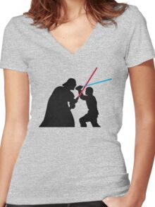 Star Wars Galaxy of Heroes Women's Fitted V-Neck T-Shirt