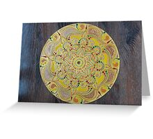 Handpainted mandala Greeting Card