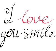 I love you smile Photographic Print