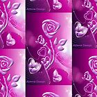Roses and hearts design ( 2945 Views) by aldona