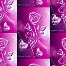 Roses and hearts design ( 3183 Views) by aldona