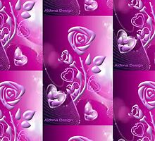 Roses and hearts design ( 3075 Views) by aldona