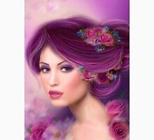 Fantasy woman with purple flowers Unisex T-Shirt