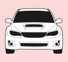 Front Profile WRX STI Sticker / Tee Shirt Designed for Subaru Impreza Fans - White Kids Clothes