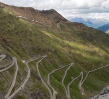 Curves of Stelvio Pass Sticker