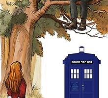 Alice and the Doctor is the Cheshire Cat by sawangomahcase